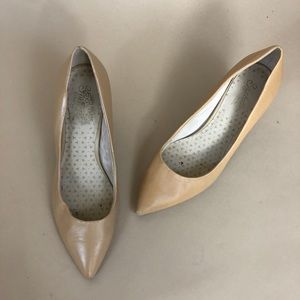Anthropologie Seychelles Nude Leather Pumps 7